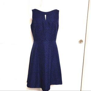 Tahari Blue Sleeveless Dress Sz8